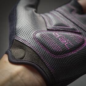 GripGrab ProGel Guantes cortos acolchados Mujer, negro/violeta